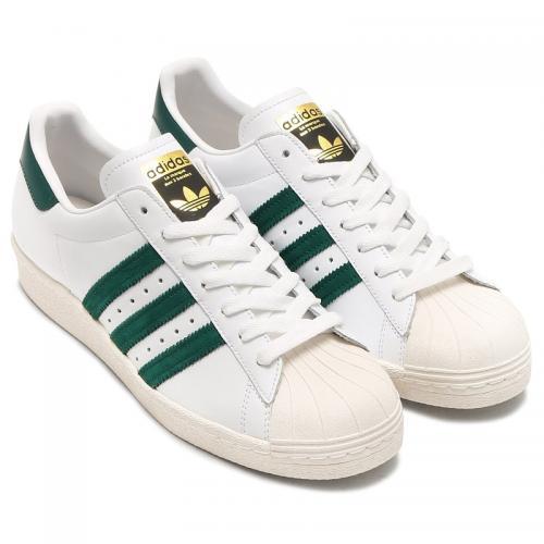 adidas Originals SUPERSTAR 80s (アディダス スーパースター 80s)RUNNING WHITE/COLLEGIATE GREEN/GOLD METT【メンズ レディース スニーカー】17SS-I