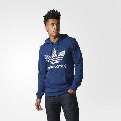 adidas Originals CLIMA RMX HD 1 (アディダス オリジナルス クライマ RMX HD1) MYSTERY BLUE/WHITE 【メンズ パーカー】17SS-I