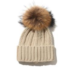 Fone ボンボン付き ニット帽(エフワン ボンボン付き ニット帽)IVORY【レディース ニット帽】17FA-I