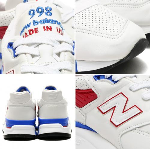 New Balance M998D MON Made in USA(ニューバランス メイド イン USA)WHITE/BLUE【メンズ スニーカー】【アメリカ製】16LS-S