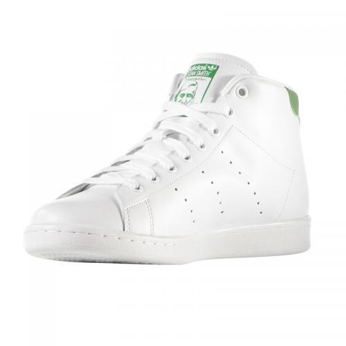 adidas Originals STAN SMITH MID(アディダス オリジナルス スタンスミス ミッド) RUNNING WHITE/RUNNING WHITE/GREEN【メンズ レディース スニーカー】16SS-I