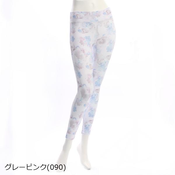 [アツギ] クリアビューティアクティブ【YOGA】10丈レギンス 花柄プリント ヨガ 49205PS