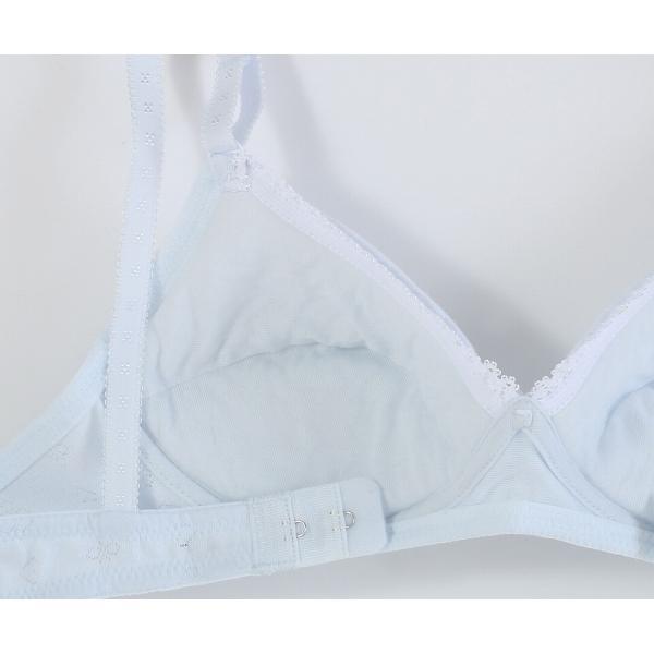 Hijuni(ハイジュニ)ジュニアインナー Step02 ノンワイヤープブラジャー ふんわりカップ 綿入り ハート花柄