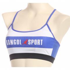 KANGOL SPORT(カンゴールスポーツ)【ジュニア】カップ付 ハーフトップ ブラジャー ロゴ入り 綿混