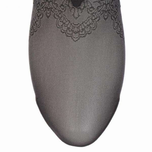 【SALE】Exhale(エクスエール) Lacy toe柄 ショート丈 30デニール相当