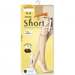 ショートストッキング 4足組 クチゴムゆったりサイズ ひざ下丈