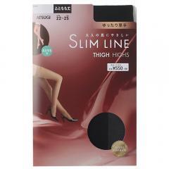 SLIMLINE(スリムライン)厚手 ふともも丈 ストッキング クチゴムゆったりタイプ 50デニール