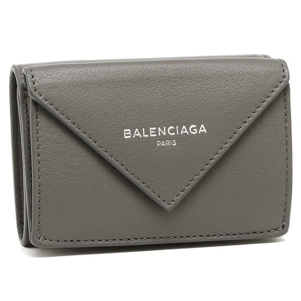 バレンシアガ 折財布 レディース BALENCIAGA 391446 DLQ0N 1215 ダークグレー