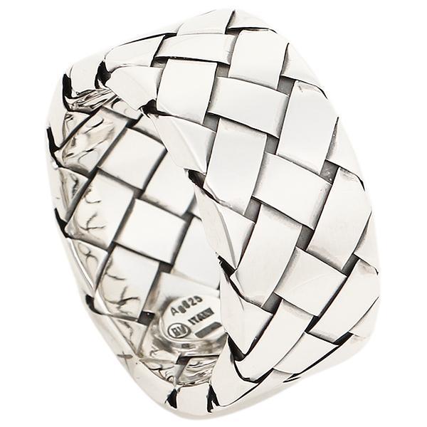 ボッテガヴェネタ リング アクセサリー メンズ BOTTEGA VENETA 200742 V5060 8117 イントレチャートデザイン 指輪 アンティークシルバー サイズをお選びください 17号