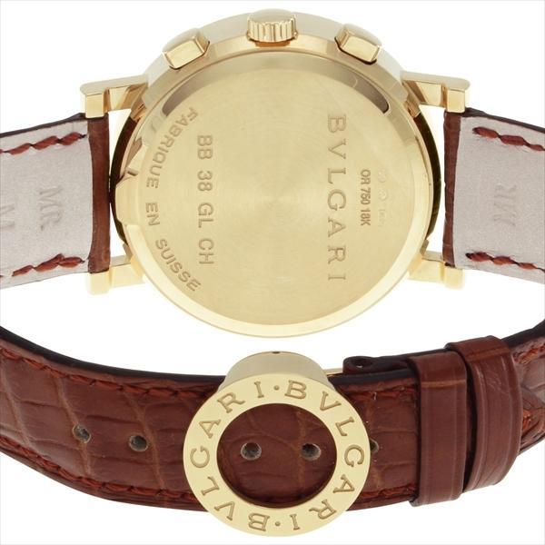 ブルガリ 時計 メンズ BVLGARI BB38WGLDCH ブルガリブルガリ 自動巻き 腕時計 ウォッチ ブラウン/ホワイト