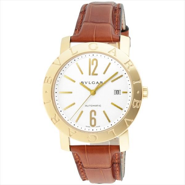 new products 95749 74118 ブルガリ 時計 メンズ BVLGARI BB42WGLDAUTO ブルガリブルガリ 自動巻き 腕時計 ウォッチ ブラウン/ホワイト