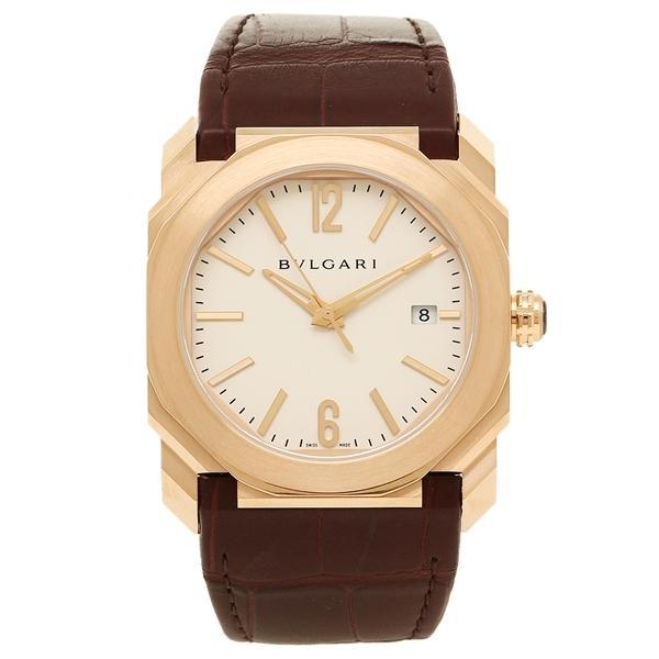 BVLGARI 腕時計 レディース ブルガリ BGOP38WGLD ホワイト ローズゴールド ブラウン