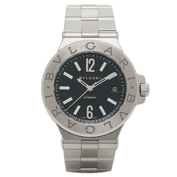 0972c565c534 ブルガリ 腕時計 BVLGARI メンズウォッチ ディアゴノ クラシック オートマチック ブラック DG40BSSD シリアル有