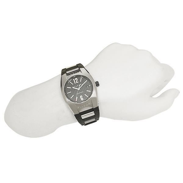 save off a2af7 b246d ブルガリ 腕時計 BVLGARI EG40BSVD ブラック シルバー