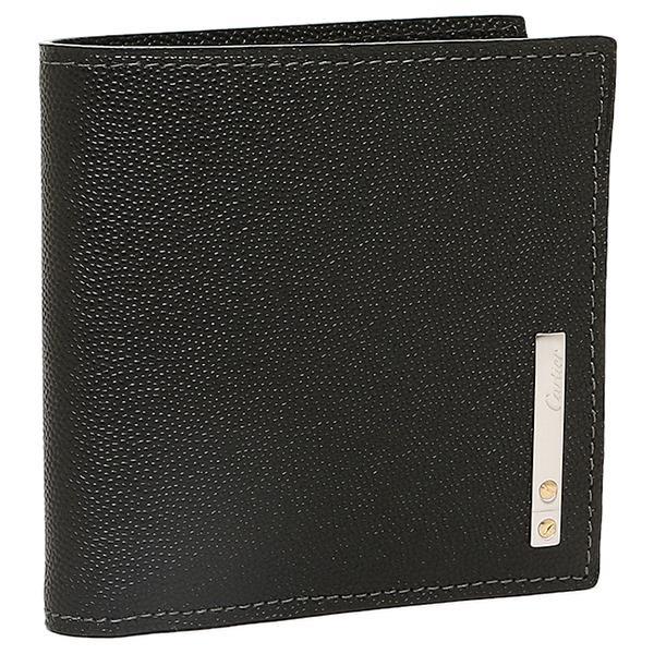 abb795c0412c カルティエ Cartier 財布 レディース Cartier カルティエ L3000772 サントスライン 2つ折り財布 ブラック