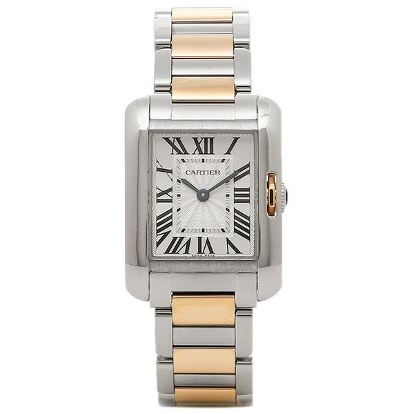 buy online 2f6e5 96394 カルティエ 時計 CARTIER W5310036 タンクアングレーズ PG SM レディース腕時計ウォッチ ホワイト/シルバー/ピンクゴールド
