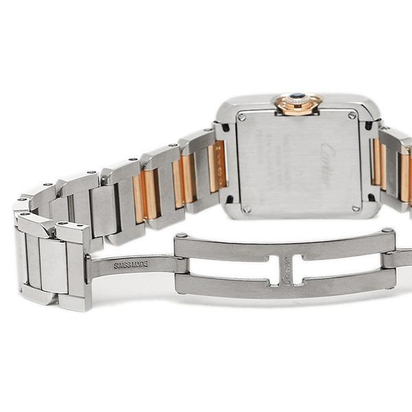 buy online ed4ce def84 カルティエ 時計 CARTIER W5310036 タンクアングレーズ PG SM レディース腕時計ウォッチ ホワイト/シルバー/ピンクゴールド