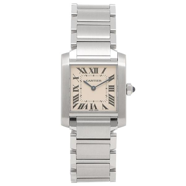 cheaper d6b6a c0835 カルティエ 腕時計 レディース タンク CARTIER WSTA0005 シルバー