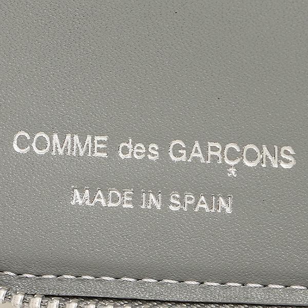 コムデギャルソン 財布 レディース/メンズ COMME des GARCONS SA2100PD POLKA DOTS PRINTED ZIP AROUND SMALL WALLET 二つ折り財布 GREY