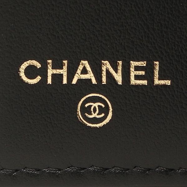 7e4bc703fd4e ... シャネル 三つ折り財布 レディース CHANEL A84068 Y09939 94305 ブラック ゴールド