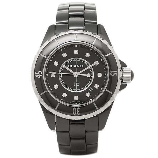 check out a6ef6 24c98 シャネル 時計 CHANEL H1625 J12 ジェイトゥエルヴ 33mm クオーツ 12Pダイヤ 200m防水 レディース腕時計ウォッチ ブラック