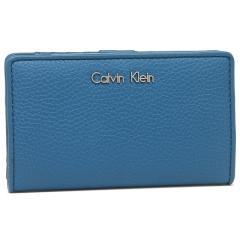 カルバンクライン 折財布 アウトレット レディース CALVIN KLEIN 37408796 418 ブルー
