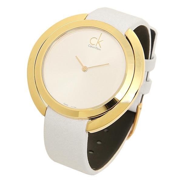 カルバンクライン 時計 レディース CALVIN KLEIN K3U235.L6 AGGREGATE アグレゲート 腕時計 ウォッチ ゴールド/ホワイト