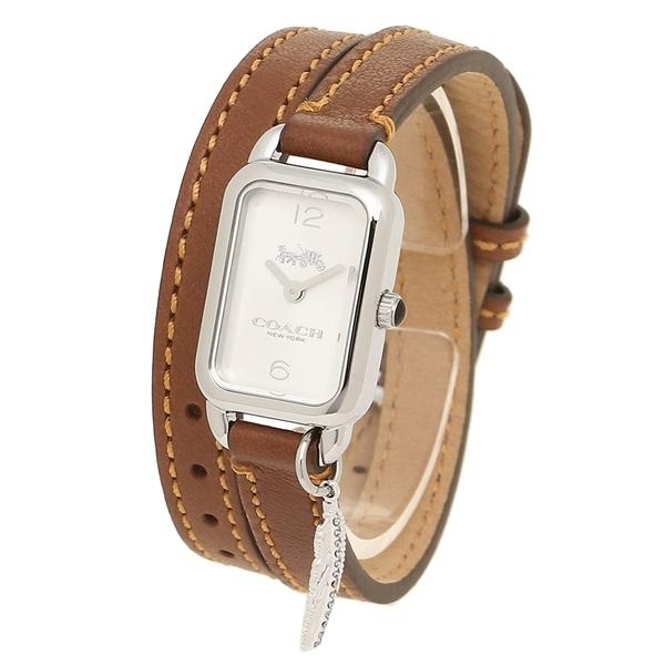 コーチ 腕時計 レディース COACH 14502775 シルバー サドルブラウン
