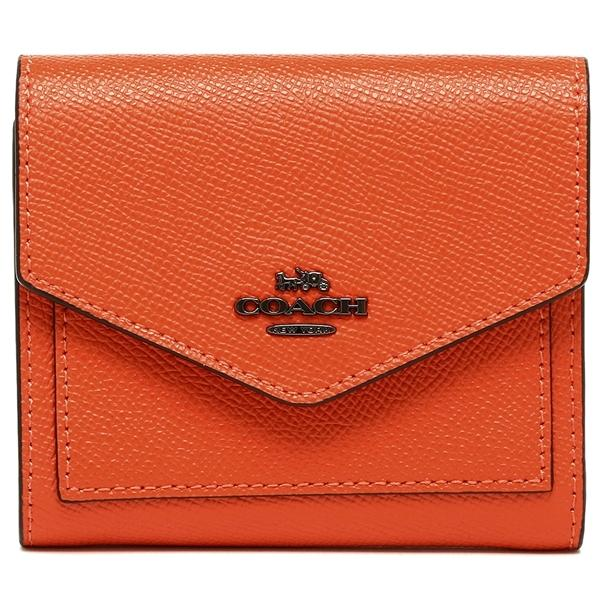 コーチ 折財布 レディース COACH 58298 DKMAN オレンジ