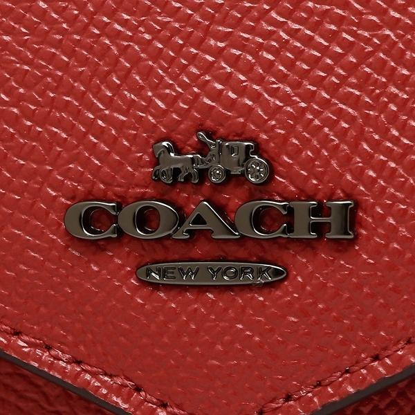 コーチ 折財布 レディース COACH 58298 DKN4N レッド