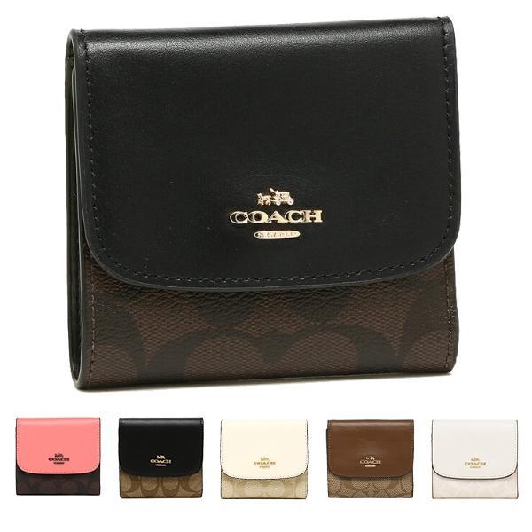 timeless design dc5d9 c54d3 コーチ COACH 財布 アウトレット F87589 シグネチャー スモール ウォレット 二つ折り財布 カラーをお選び下さい (1)IMAA8  ブラウン/ブラック