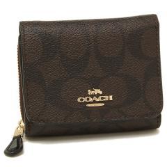 コーチ 折財布 アウトレット レディース COACH F41302 IMAA8 ブラウン ブラック