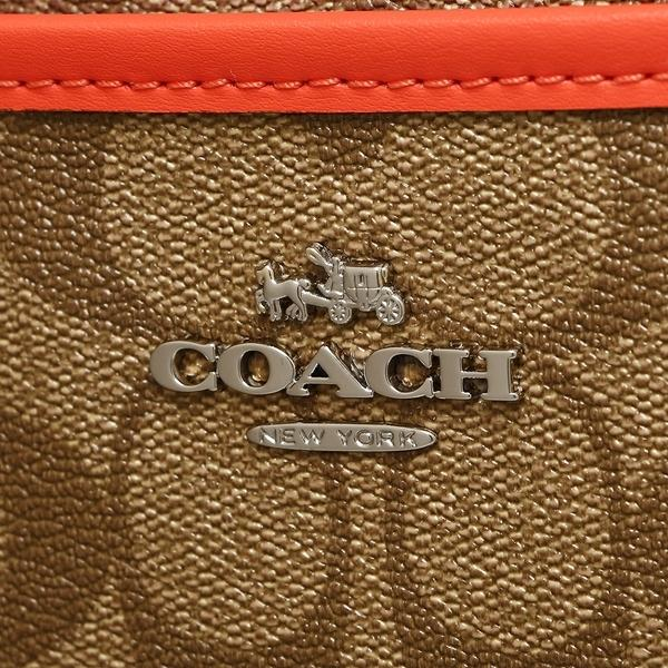 コーチ ショルダーバッグ アウトレット レディース COACH F58297 SVC8O カーキ ブライトオレンジ