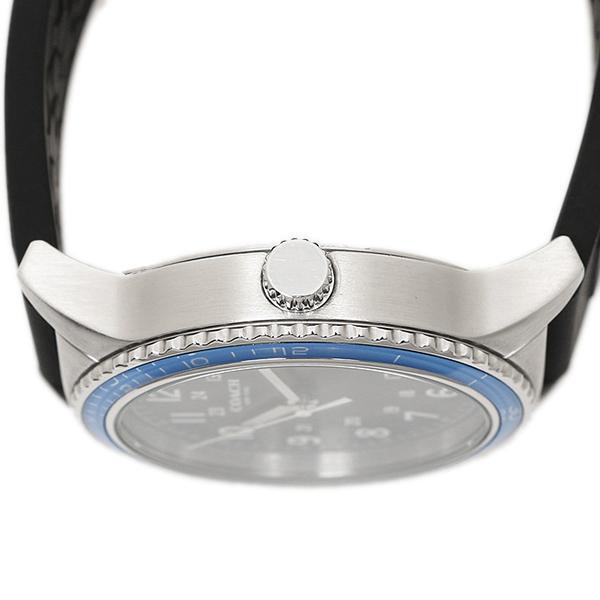 コーチ 腕時計 メンズ アウトレット COACH W5015 F3A ブラック シルバー ブルー