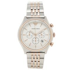 EMPORIO ARMANI メンズ 腕時計 エンポリオアルマーニ AR1998 ホワイト シルバー ゴールド