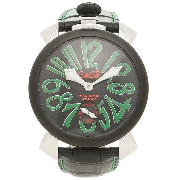 online store 600e9 5a63a ガガミラノ 腕時計 メンズ GAGA MILANO 5013.02S BLK シルバー ブラック グリーン