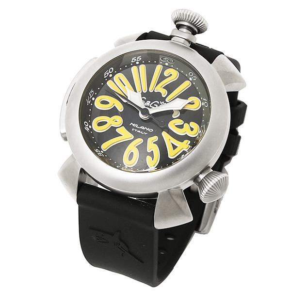 ガガミラノ 腕時計 GAGA MILANO 5040.2-BLKRUBBER ブラック シルバー イエロー