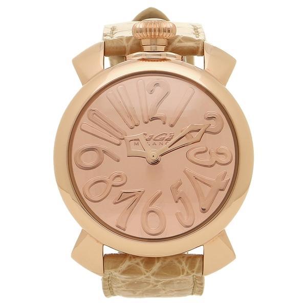 size 40 d0faf b4573 ガガミラノ 腕時計 メンズ レディース GAGA MILANO 5221.MIR.01 ピンクゴールド ベージュ