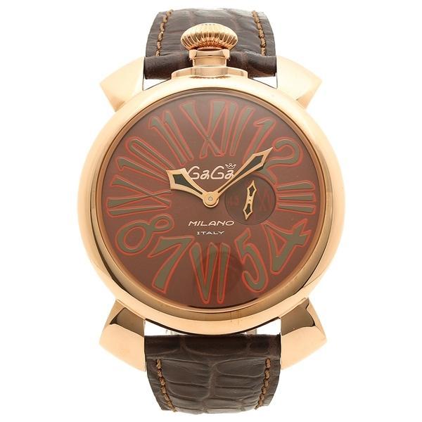 promo code 82401 0930f ガガミラノ 腕時計 メンズ GAGA MILANO M508501 ブラウン ローズゴールド