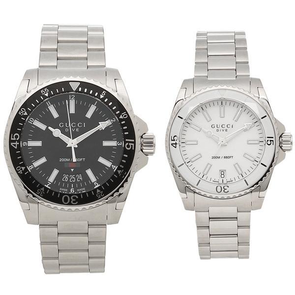 af27e9a2a27a グッチ 腕時計 ペアウォッチ レディース メンズ GUCCI YA136301 YA136402 ブラック ホワイト シルバー
