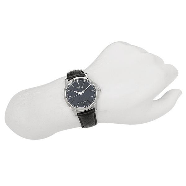 グッチ メンズ 腕時計 GUCCI YA126430 ブラック シルバー