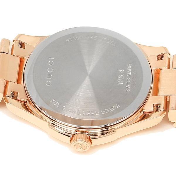 グッチ 腕時計 メンズ GUCCI YA126482 サーモンピンク ピンクゴールド