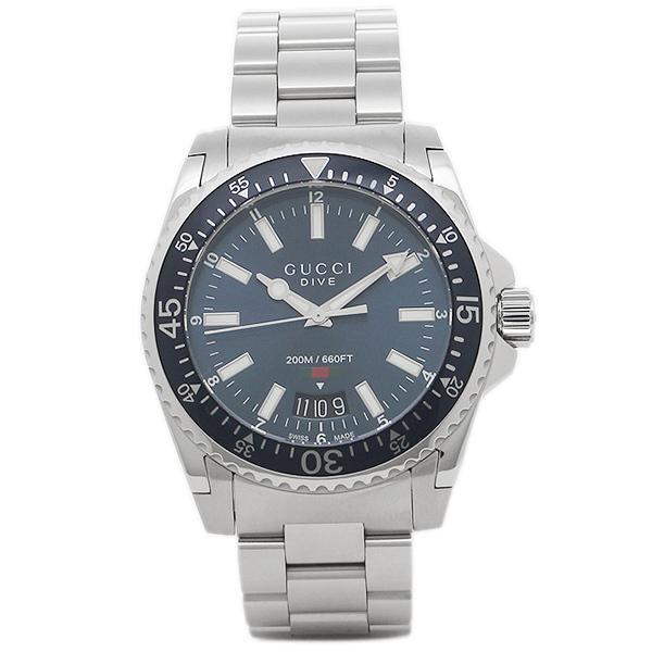グッチ 腕時計 メンズ GUCCI YA136311 ブラック シルバー