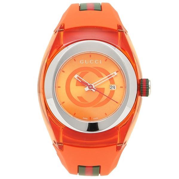 グッチ 時計 メンズ/レディース GUCCI YA137311 オレンジ シルバー