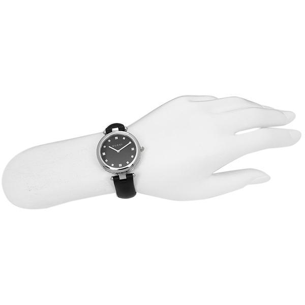 グッチ 腕時計 レディース GUCCI YA141403 ブラック シルバー