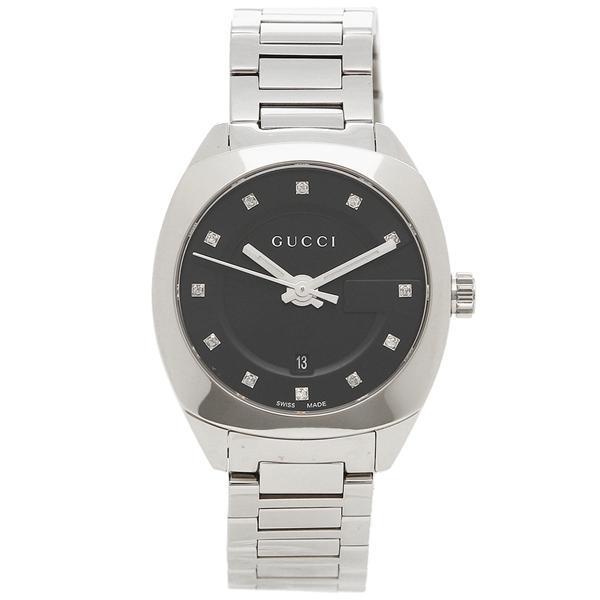 グッチ 腕時計 メンズ GUCCI YA142503 シルバー/ブラック