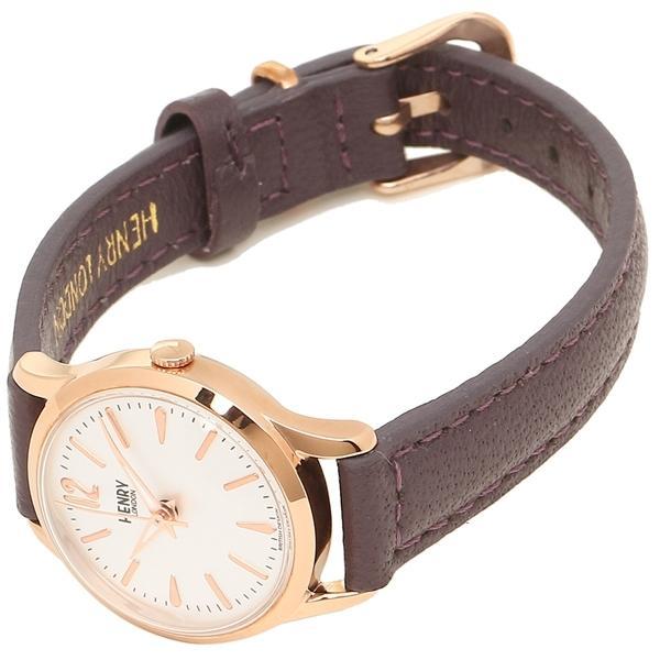 ヘンリーロンドン 腕時計 レディース HENRY LONDON HL25S0072 ブラウン ピンクゴールド シルバー