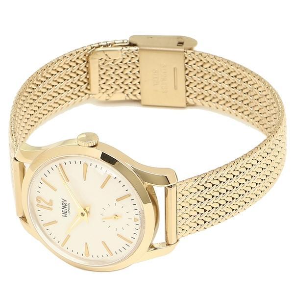 ヘンリーロンドン 腕時計 レディース HENRY LONDON HL30UM0004 アイボリー イエローゴールド