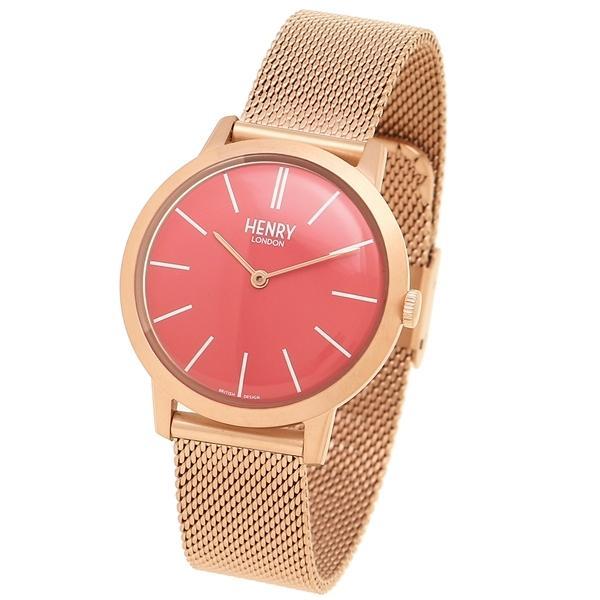 ヘンリーロンドン 腕時計 レディース HENRY LONDON HL34-M-0272 ピンク ピンクゴールド