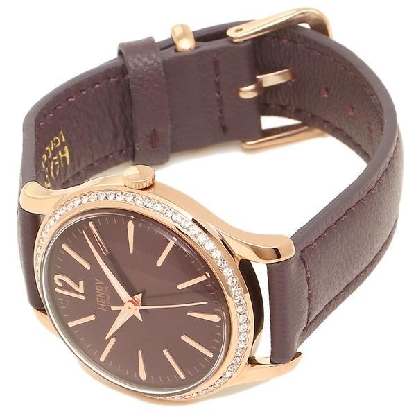 ヘンリーロンドン 腕時計 レディース HENRY LONDON HL34-SS-0198 パープル ピンクゴールド